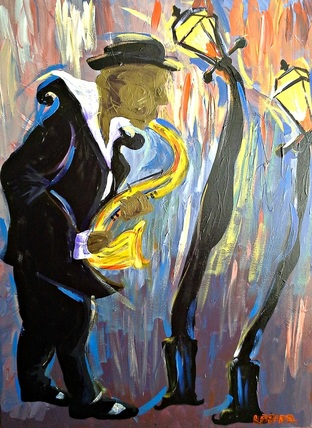 New Orleans Sax Player